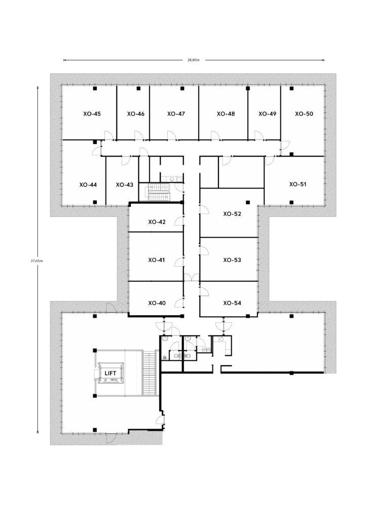 Plattegronden Crosspoint Offices in Noordwijk